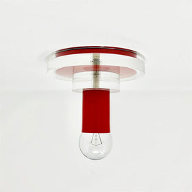 red lepore flush mount acrylic lighting dutton brown _hover