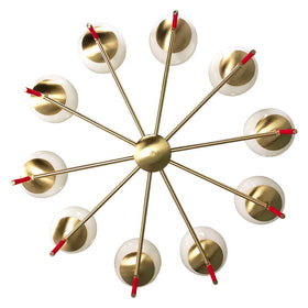 chandelier ceiling light fixture Color lolli 36 inch red brass white globe mid century modern lighting _hover