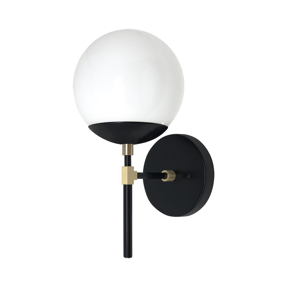 Lolli globe sconce 6 wall sconce lights mid century modern lolli sconce 6 inch black brass white globe light fixture aloadofball Images