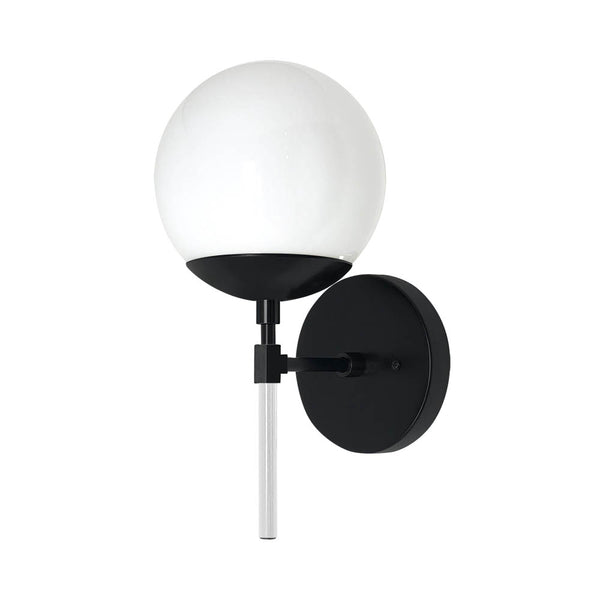 black and chalk color lolli globe wall sconce 6'' dutton brown design lighting
