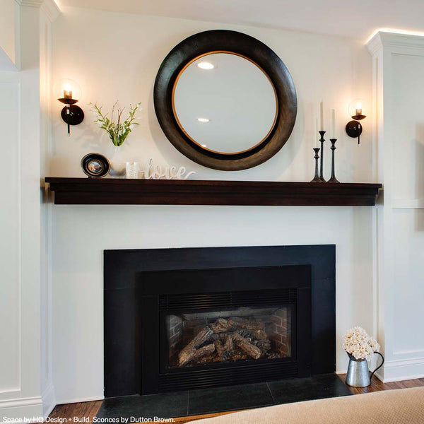 "Lolli globe sconce 6"" black nickel lighting by Dutton Brown. Space by HQ Design + Build."