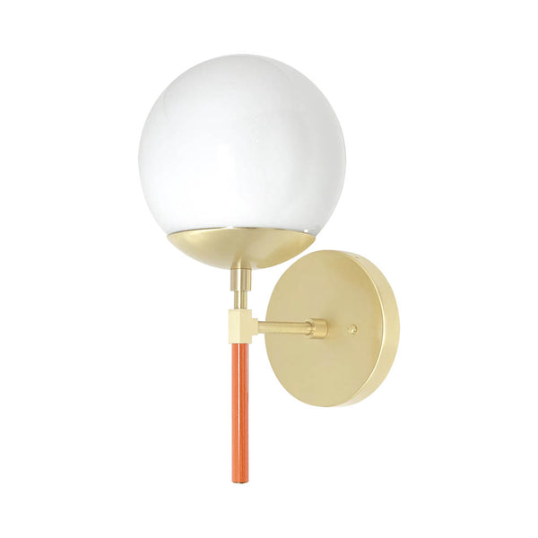 orange brass color lolli globe wall sconce 6'' dutton brown design lighting