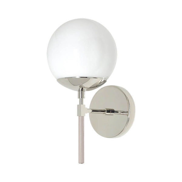 blush nickel color lolli globe wall sconce 6'' dutton brown design lighting