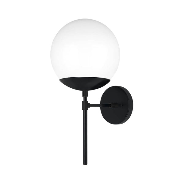 black lolli globe wall sconce 8'' dutton brown lighting