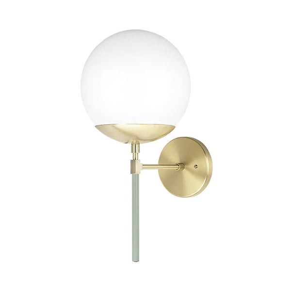 brass spa lolli globe wall sconce 8 inch dutton brown lighting