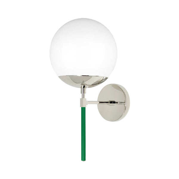 nickel kelly green color lolli globe wall sconce dutton brown lighting