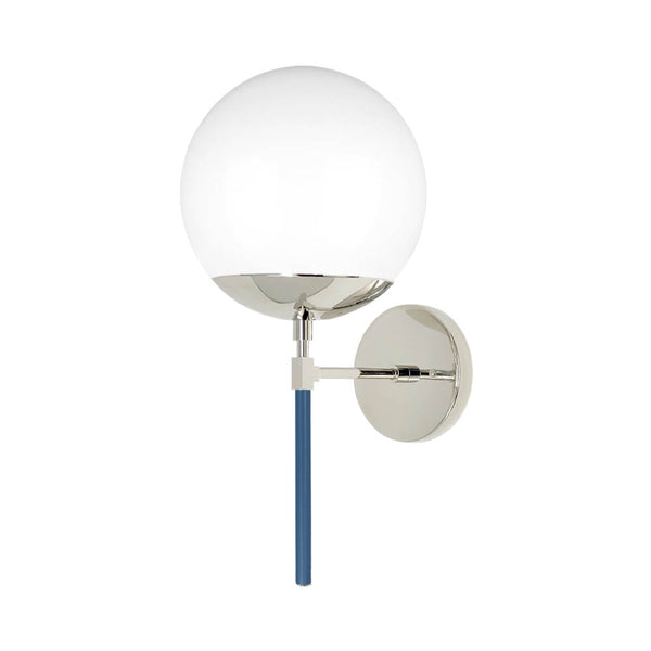 nickel slate blue color lolli globe wall sconce dutton brown lighting