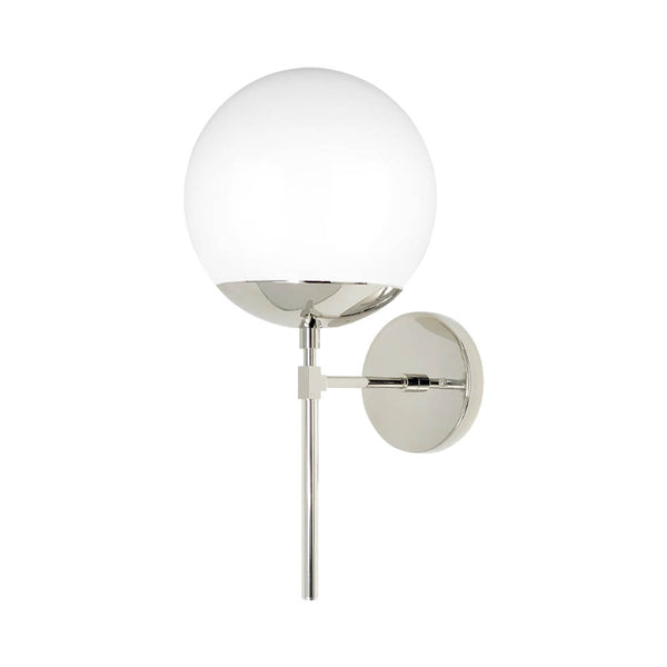 nickel lolli globe wall sconce 8'' dutton brown lighting