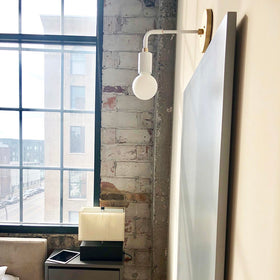 long snug plug-in wall sconce lighting dutton brown bedroom _hover