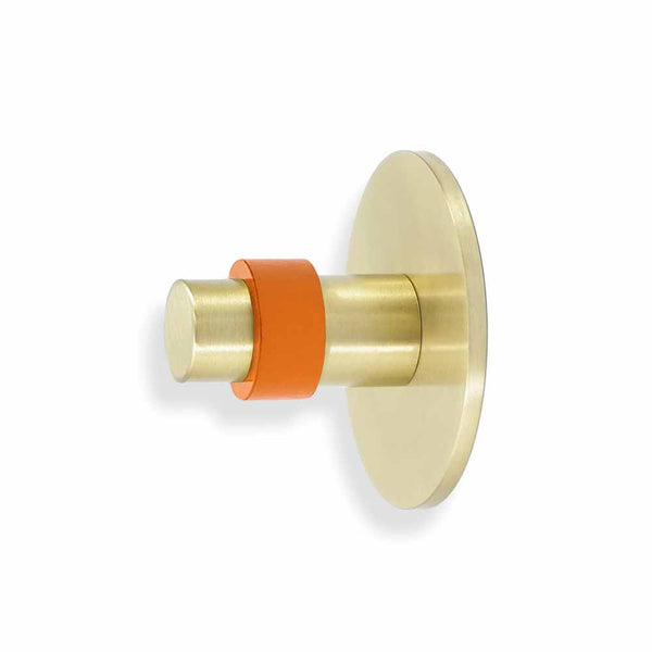 brass and orange minx wall hook dutton brown hardware