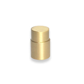 nip knob hardware satin brass by Dutton Brown.