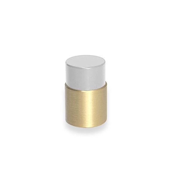 brass and chalk nip knob dutton brown hardware _hover