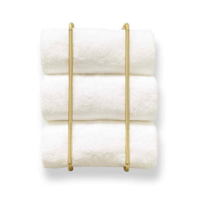 "throne towel rack 20"" satin brass bathroom hardware Dutton Brown"