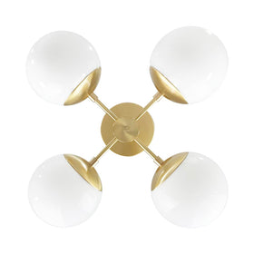 brass orbi globe chandelier lighting by dutton brown _hover