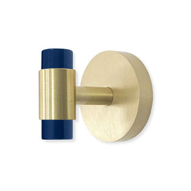 brass and cobalt persona wall hook dutton brown hardware