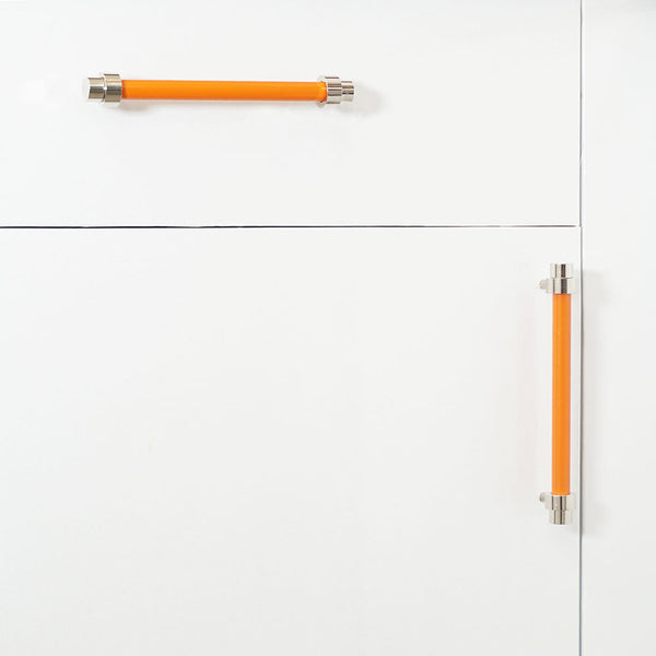 nickel orange persona pull cabinet hardware Dutton Brown