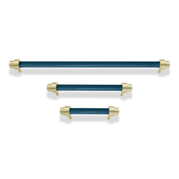 brass and slate blue cabinet pulls dutton brown hardware