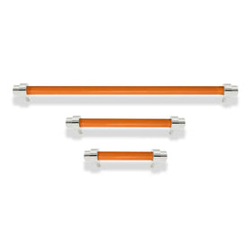 nickel and orange persona cabinet pull dutton brown hardware