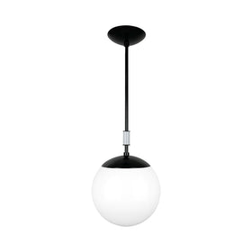 black and dove gray color pop globe pendant 10'' dutton brown lighting _hover