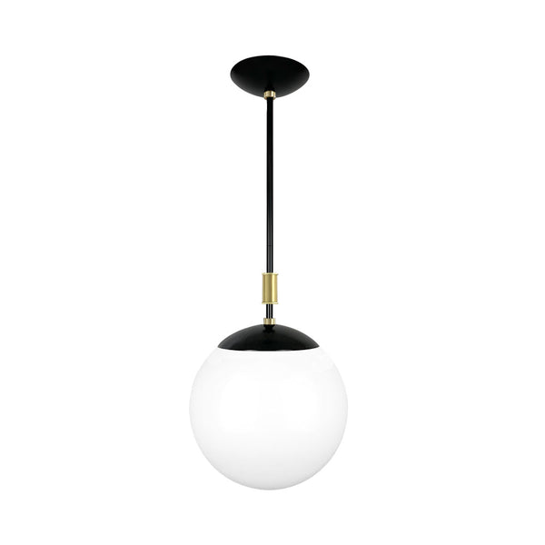 black and brass pop globe pendant 12'' dutton brown lighting