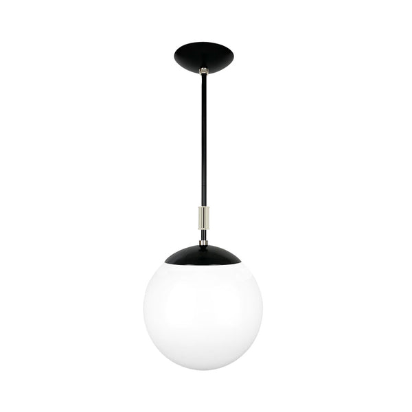 black and nickel pop globe pendant 12'' dutton brown lighting