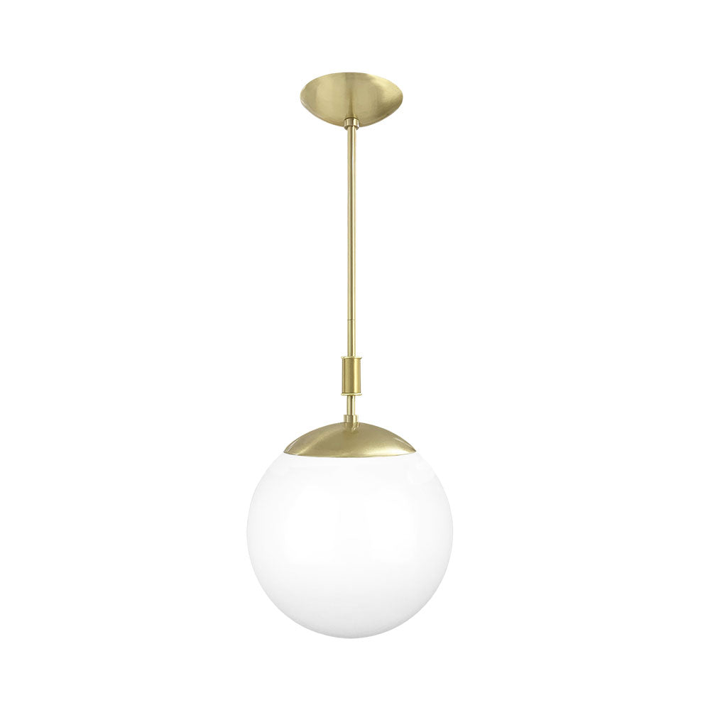brass pop globe pendant 12'' dutton brown lighting