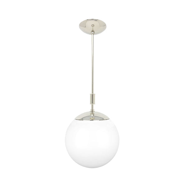 nickel pop globe pendant 12'' dutton brown lighting
