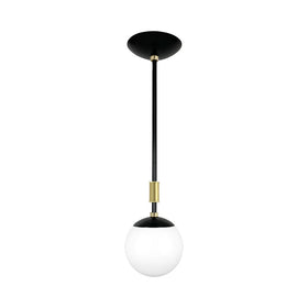 black and brass pop globe pendant 6'' dutton brown lighting