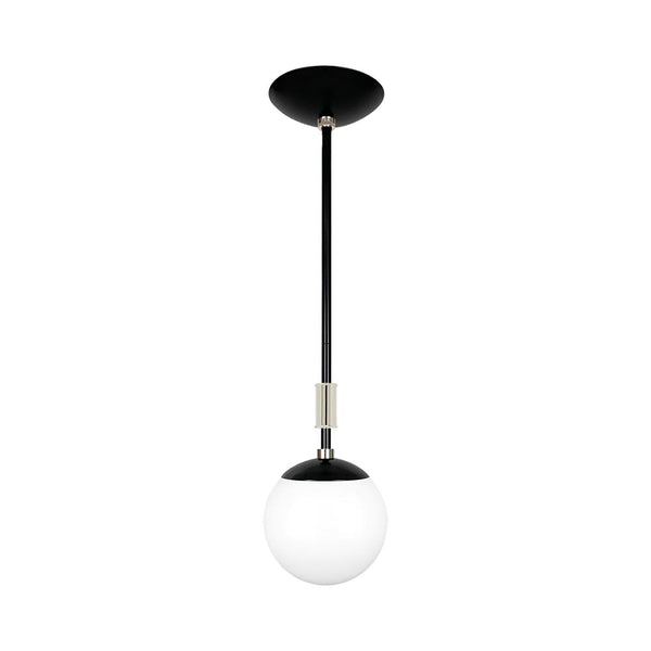 black and nickel pop globe pendant 6'' dutton brown lighting