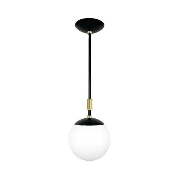 black and brass pop globe pendant 8'' dutton brown lighting