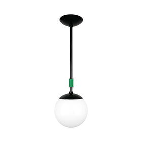 black and kelly green color pop globe pendant 8'' dutton brown lighting