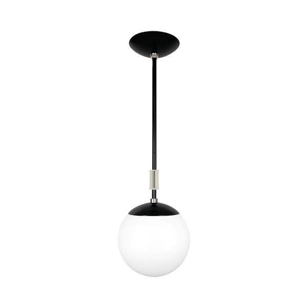 black and nickel pop globe pendant 8'' dutton brown lighting