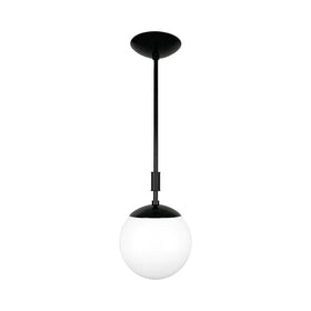 black pop globe pendant 8'' dutton brown lighting _hover