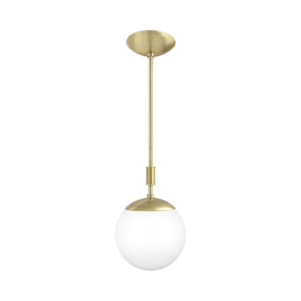 brass pop globe pendant 8'' dutton brown lighting