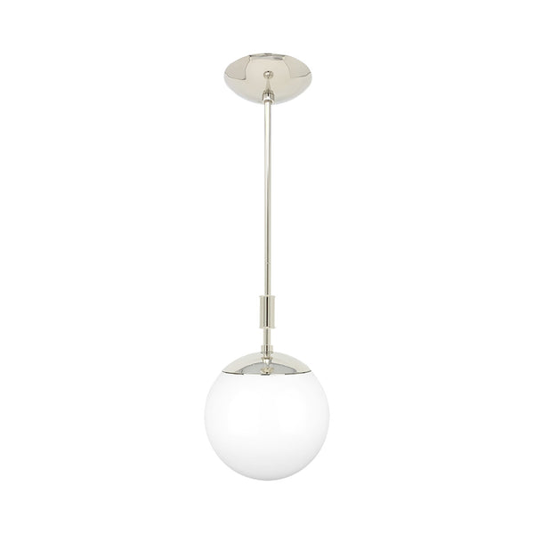 nickel pop globe pendant 8'' dutton brown lighting