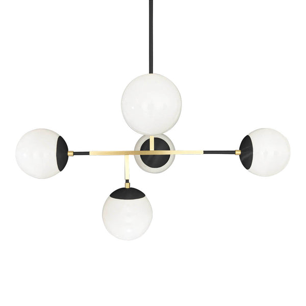 black brass prisma globe chandelier lighting by dutton brown mid century modern geometric light fixture