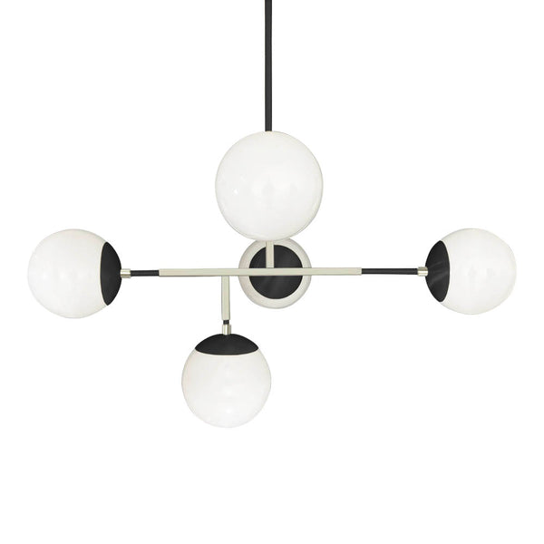 black nickel prisma globe chandelier lighting by dutton brown mid century modern geometric light fixture