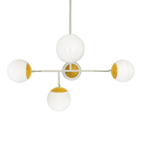 "nickel ochre color prisma globe chandelier 35"" dutton brown lighting"