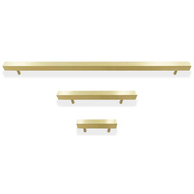 prisma pull hardware satin brass by Dutton Brown.