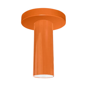 orange reader flush mount dutton brown lighting