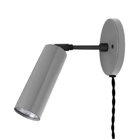 black charcoal adjustable plug in reader sconce dutton brown lighting