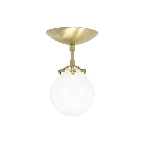 flush mount ceiling light fixtures reef white globe 6 inch brass mid century modern custom lighting
