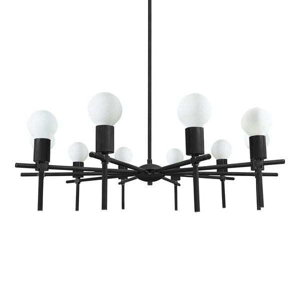 black regina chandelier lighting by dutton brown