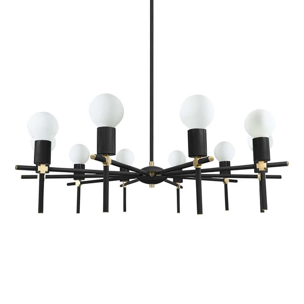 black brass regina chandelier lighting by dutton brown