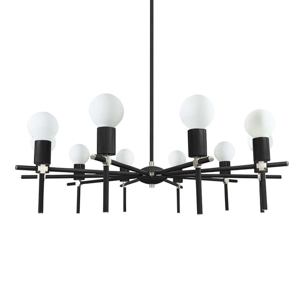 black nickel regina chandelier lighting by dutton brown