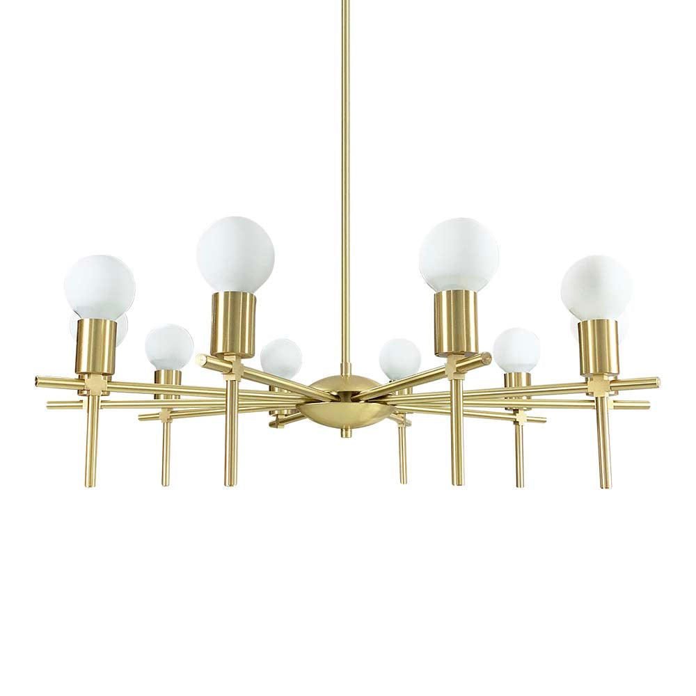 brass regina chandelier lighting by dutton brown
