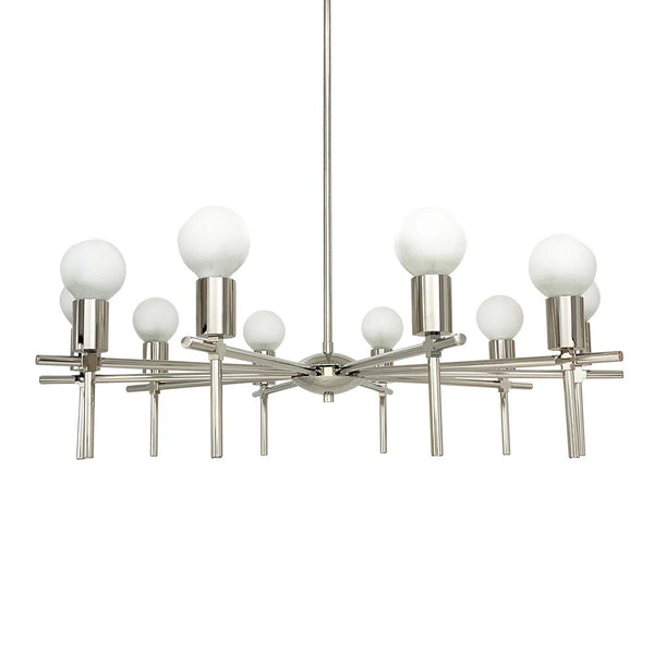 nickel regina chandelier lighting by dutton brown