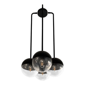 reign globe chandelier black lighting by Dutton Brown.