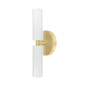 brass and chalk  Ruler Wall Sconce Dutton Brown Lighting