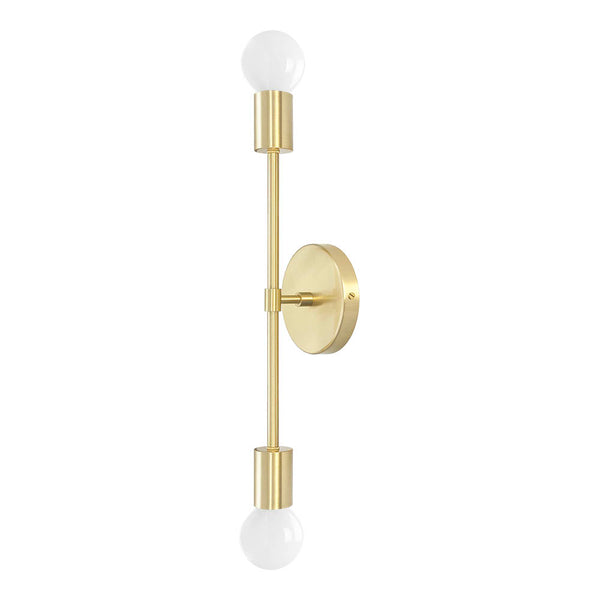 "wall lights mid century modern scepter sconce 18"" brass finish light fixture _hover"